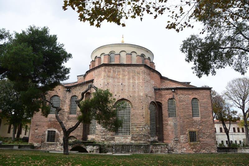 Hagia Irene Kirche, Istanbul, die Türkei stockfotos