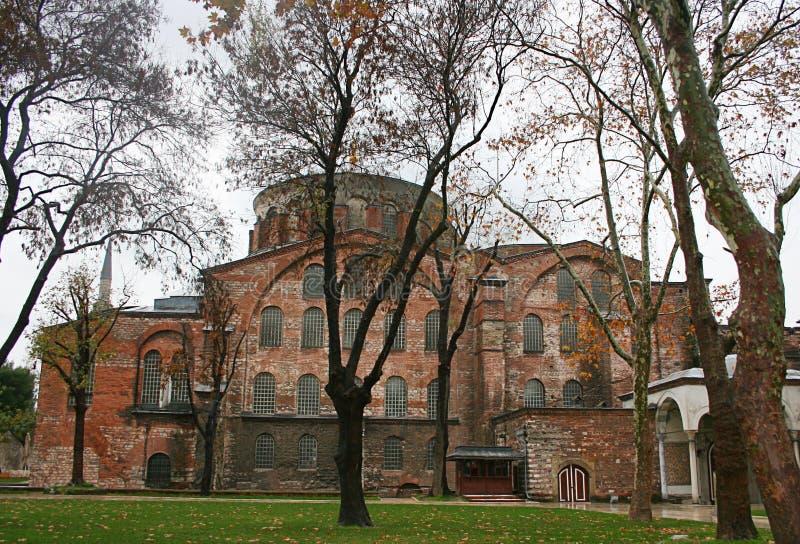 Hagia Irene kyrka i Istanbul fotografering för bildbyråer