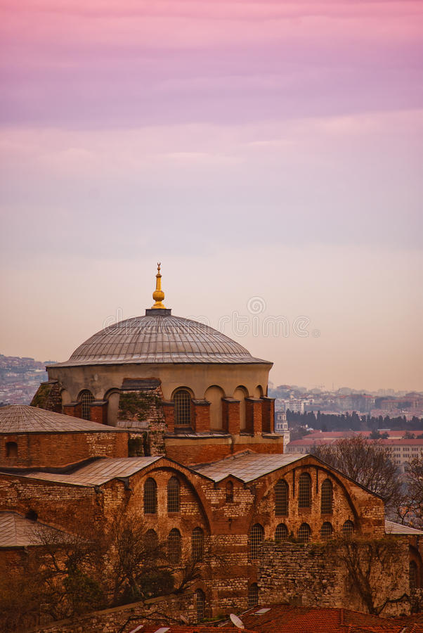 Hagia Irene mosque 01. The old hagia irene mosque and museum that's situated in the turkish city of Istanbul royalty free stock image