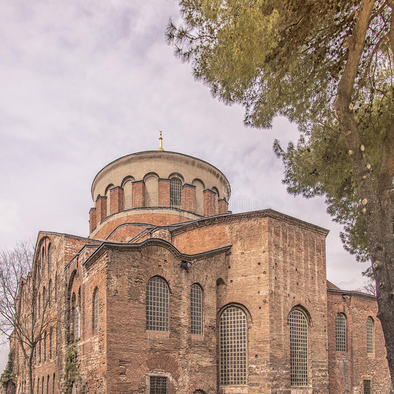 Hagia Irene Mosque. The old hagia irene mosque and museum thats situated in the turkish city of Istanbul royalty free stock images