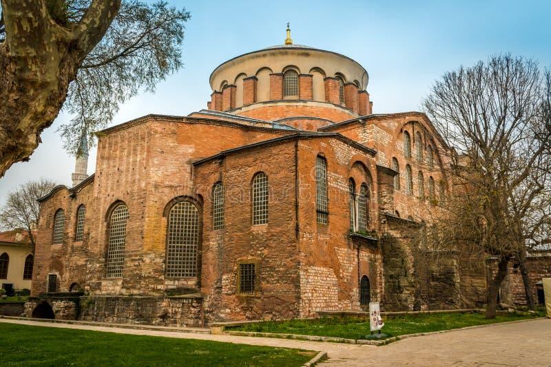 Hagia Irene Orthodox Church, Istanbul, Turkiet arkivbild