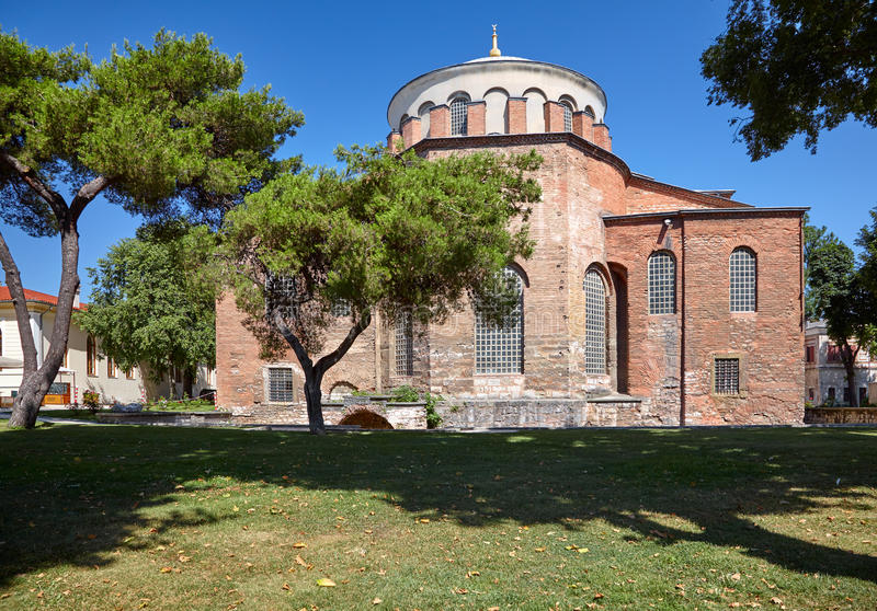 Hagia Irene (Saint Irene), Istanbul. Hagia Irene, the former Eastern Orthodox church located in the outer courtyard of Topkapi Palace in Istanbul, Turkey stock photos