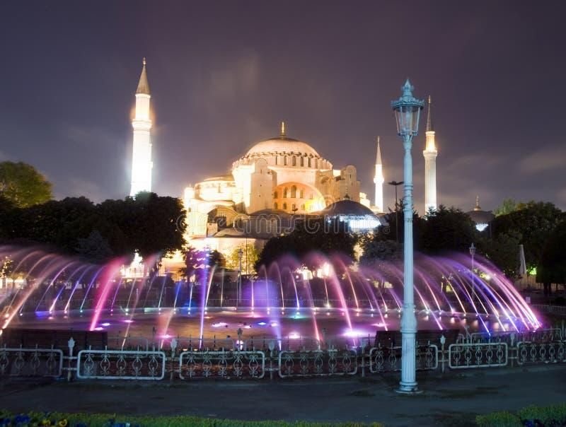 hagia Istanbul meczetowy muzealny noc sceny sophia obrazy stock