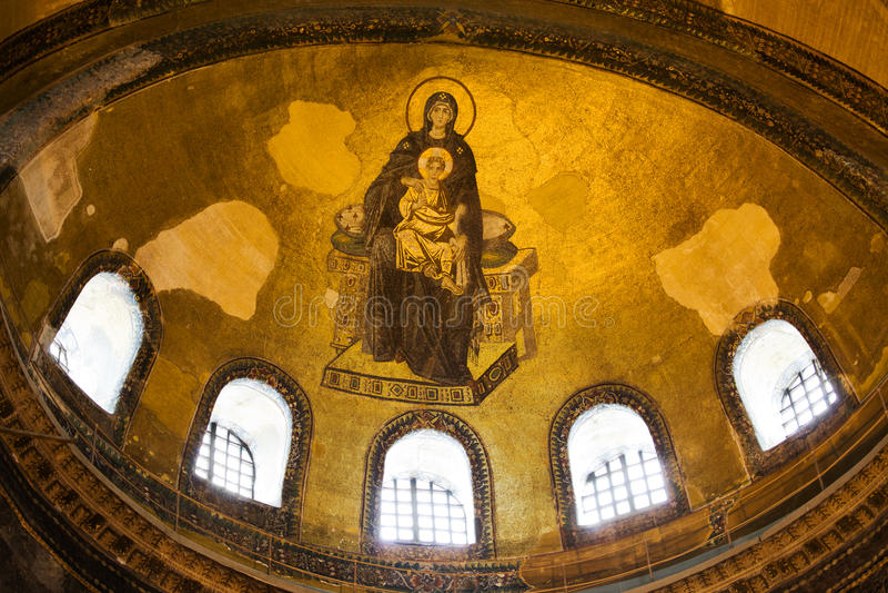 hagia mozaiki sophia obraz royalty free