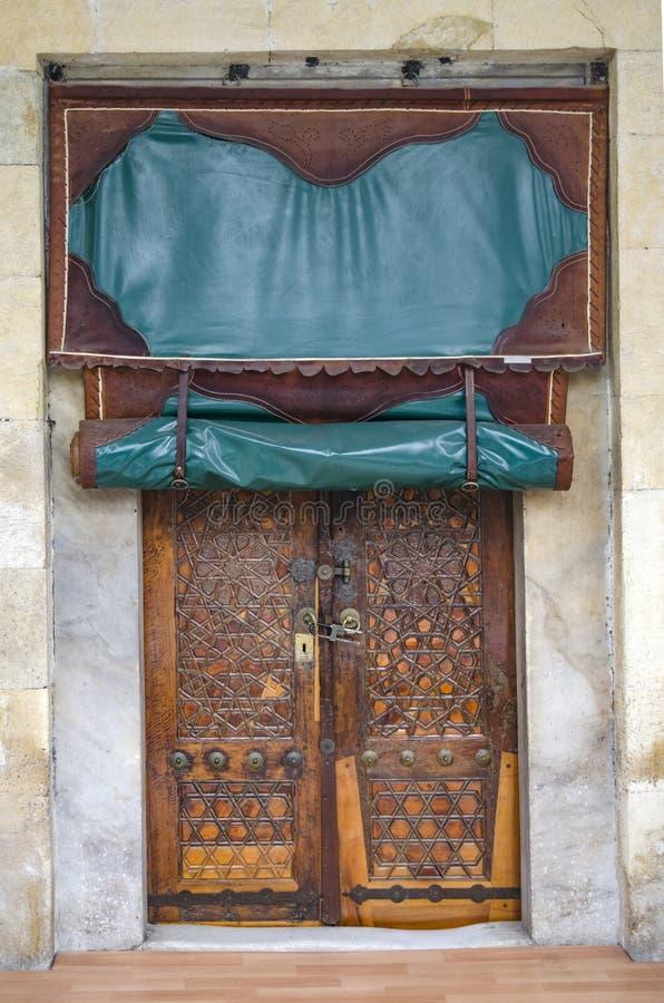 Hagia pequeno Sophia Mosque, porta antiga foto de stock