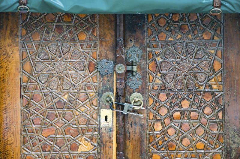 Hagia pequeno Sophia Mosque, porta antiga imagens de stock
