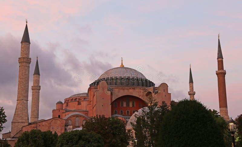 Hagia Sofía en la oscuridad fotos de archivo libres de regalías