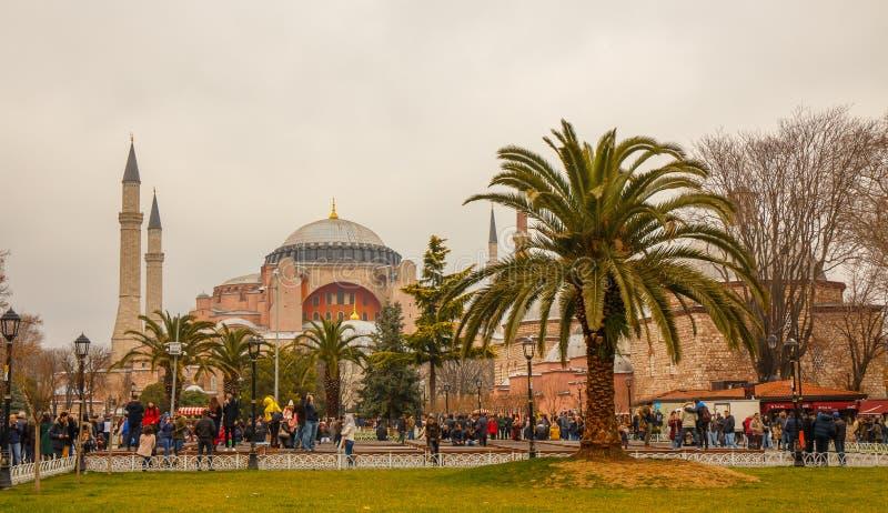 Hagia Sofia in de loop van de dag royalty-vrije stock afbeeldingen
