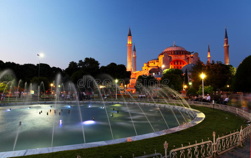 Hagia Sofia - Isntanbul, Turkije stock afbeelding