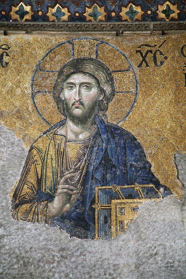 Hagia Sofia mosaic stock images