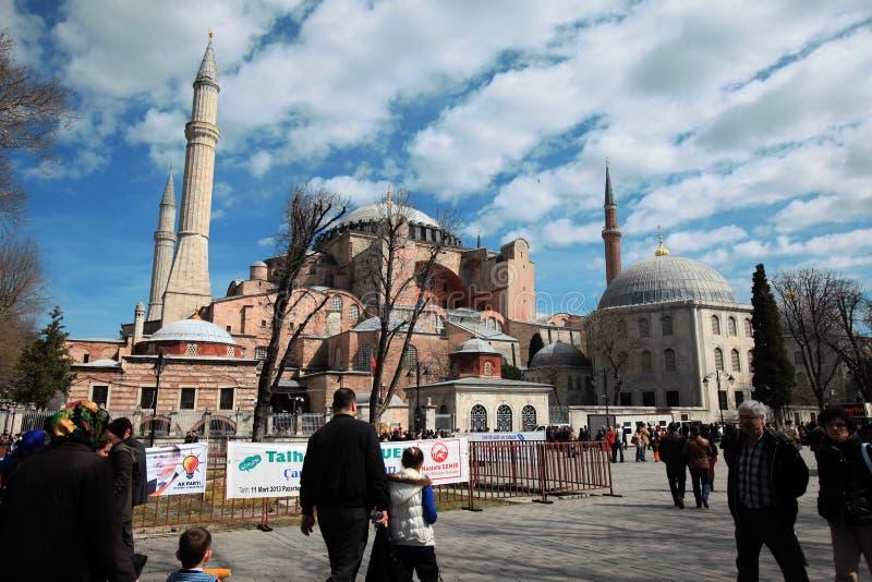 Hagia Sopia教会,博物馆,旅行伊斯坦布尔土耳其 免版税库存图片