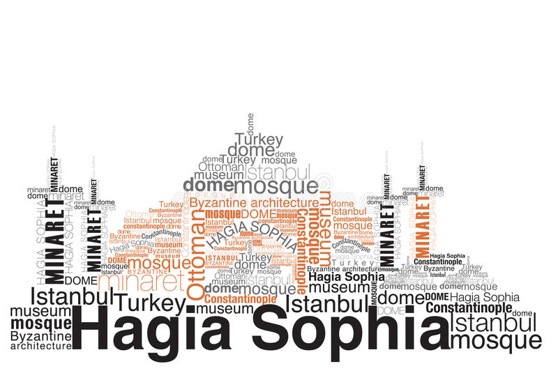 hagia sophia ilustracji