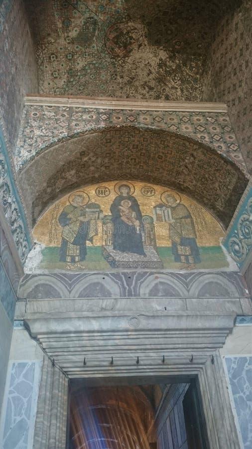 Интерьер Hagia Sophia на Стамбуле Турции - предпосылке архитектуры стоковая фотография rf