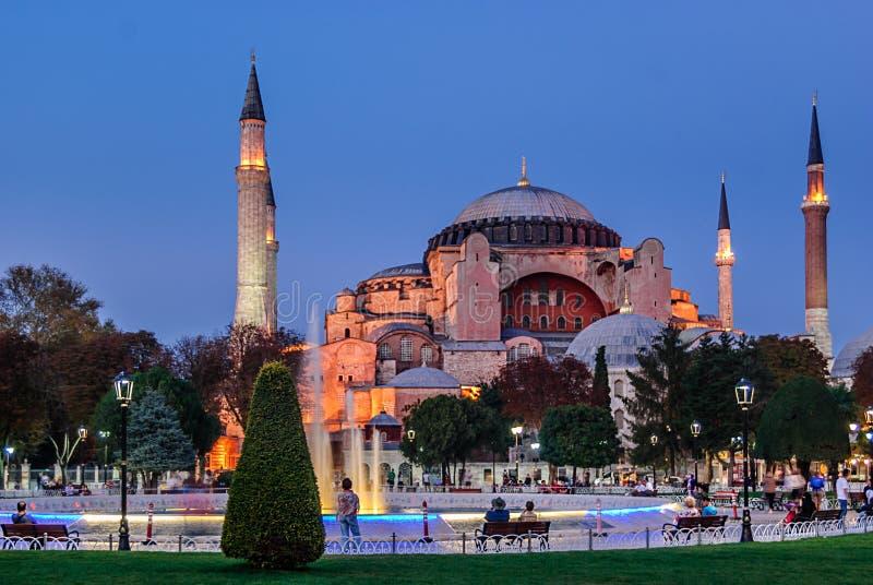 Hagia Sophia au coucher du soleil, Istanbul, Turquie image stock