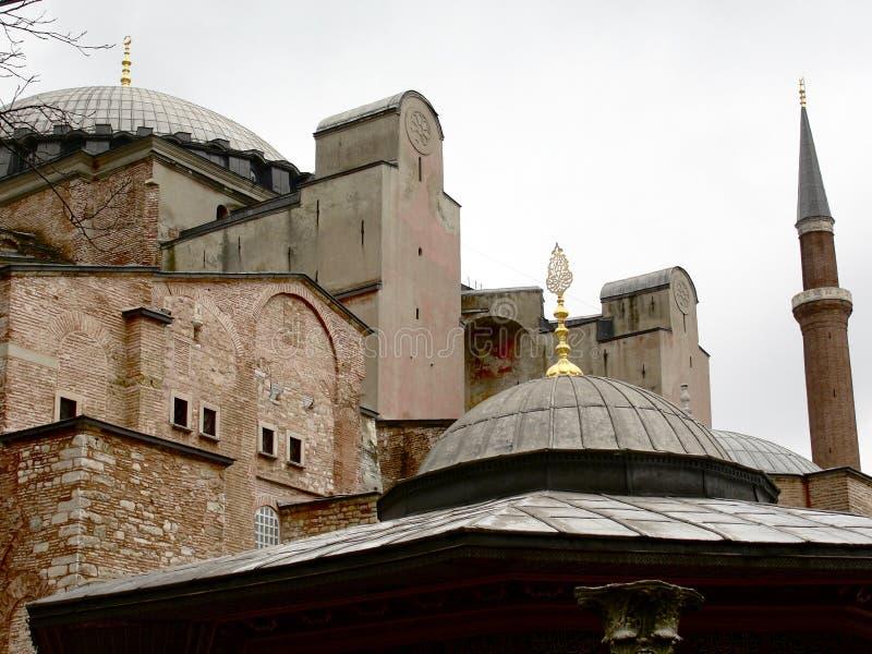 Hagia Sophia (Aya Sofia) en Estambul, Turquía imagen de archivo libre de regalías