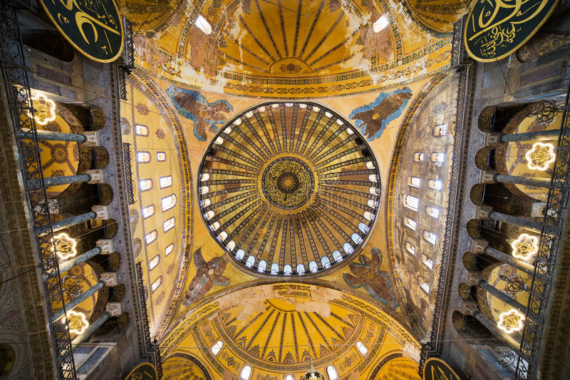 Hagia Sophia Ceiling royalty free stock photography
