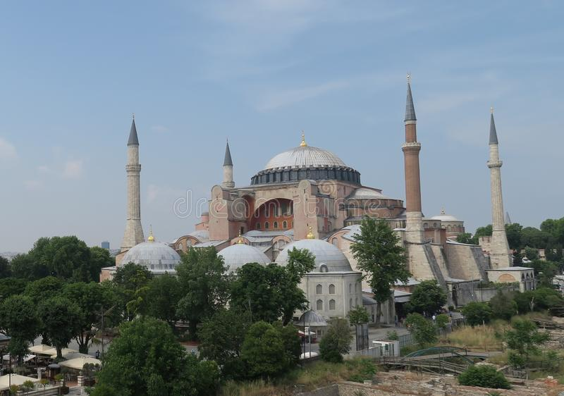 Hagia Sophia, Christian Orthodox Patriarchal Basilica, imperialistisk moské och nu ett museum i Istanbul, Turkiet royaltyfria foton