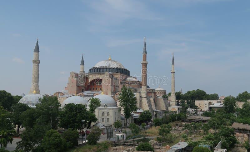 Hagia Sophia, Christian Orthodox Patriarchal Basilica, Keizermoskee en nu een Museum in Istanboel, Turkije royalty-vrije stock afbeeldingen