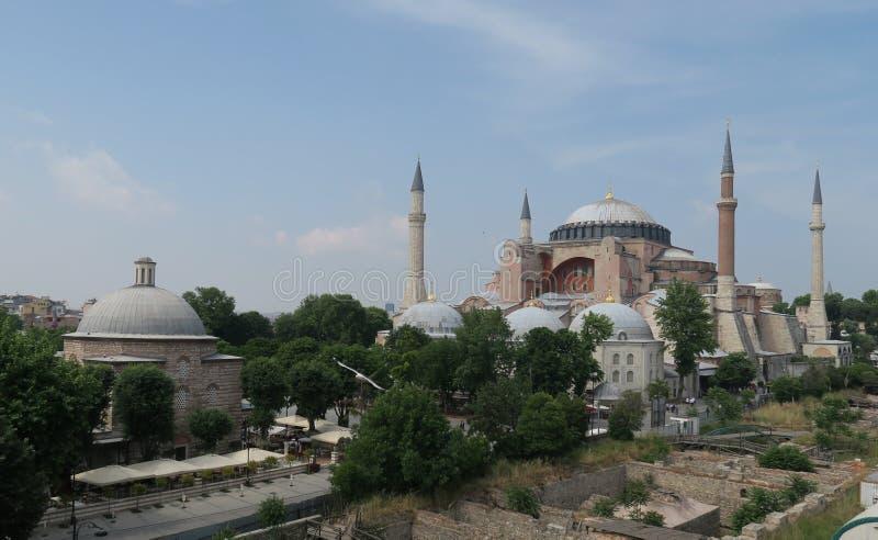 Hagia Sophia, Christian Orthodox Patriarchal Basilica, Keizermoskee en nu een Museum in Istanboel, Turkije stock afbeelding