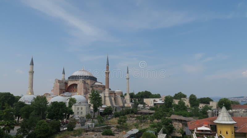 Hagia Sophia, Christian Orthodox Patriarchal Basilica, Keizermoskee en nu een Museum in Istanboel, Turkije royalty-vrije stock foto's