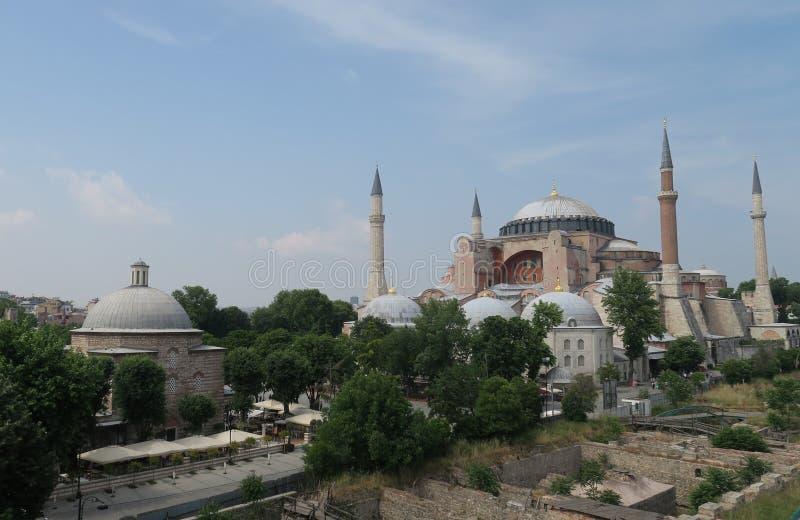 Hagia Sophia, Christian Orthodox Patriarchal Basilica, Keizermoskee en nu een Museum in Istanboel, Turkije royalty-vrije stock afbeelding