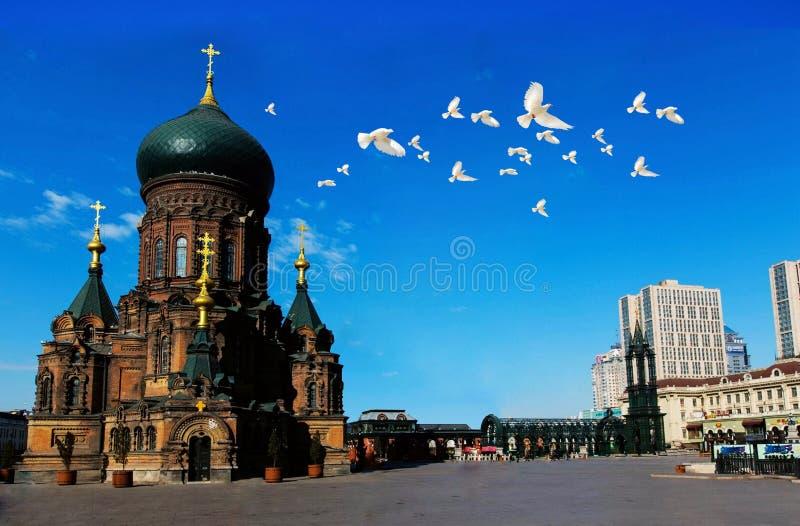 Hagia Sophia Church av Harbin arkivfoton