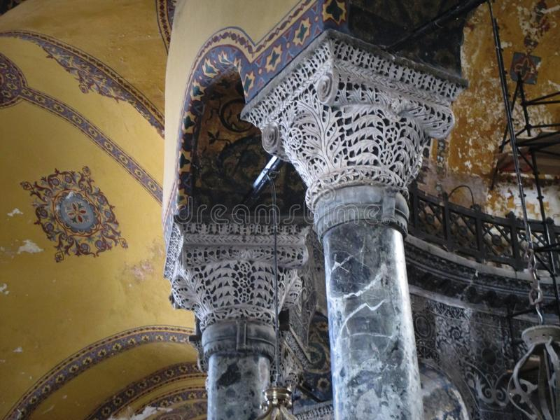 Hagia Sophia Columns royalty free stock images