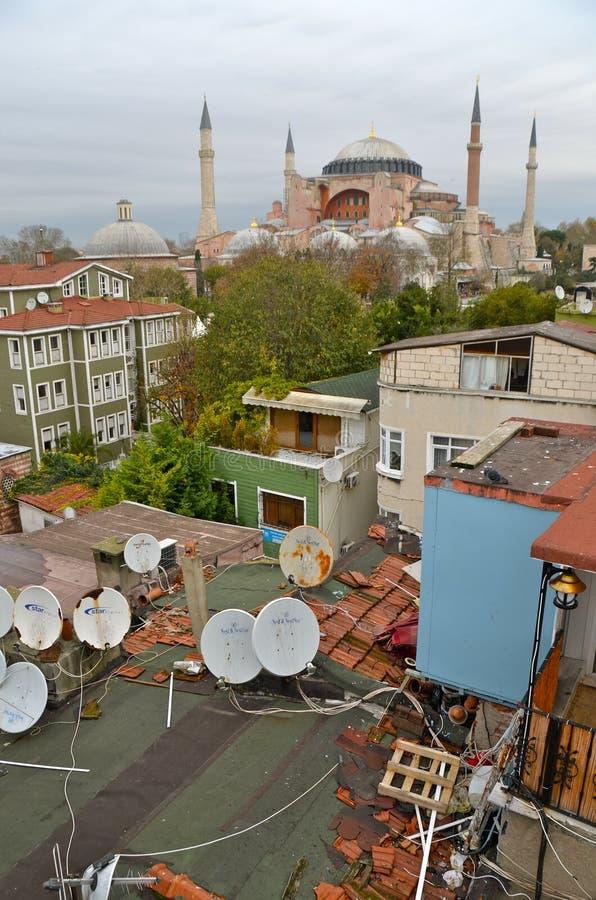 Hagia Sophia a Costantinopoli, Turchia immagini stock libere da diritti