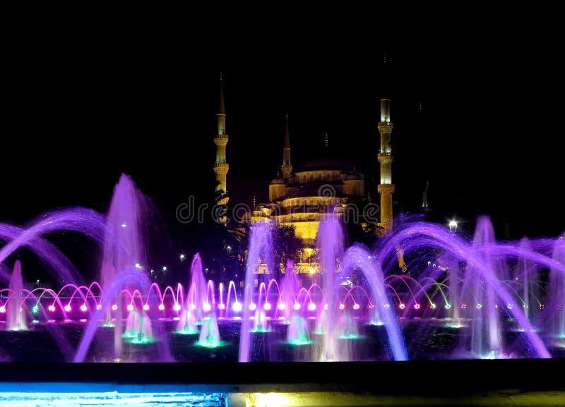 Hagia Sophia, de parel van Istanboel in de nacht royalty-vrije stock fotografie