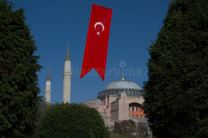 Hagia Sophia, el monumento famoso imagen de archivo libre de regalías