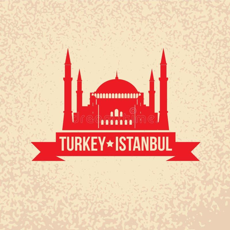 Hagia Sophia - el símbolo de Turquía, Estambul stock de ilustración