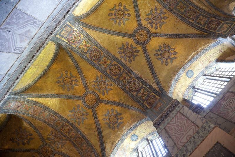 Hagia Sophia em Istambul, Turquia/mosaicos antigos foto de stock royalty free