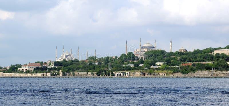 Hagia Sophia en Blauwe moskee royalty-vrije stock foto's