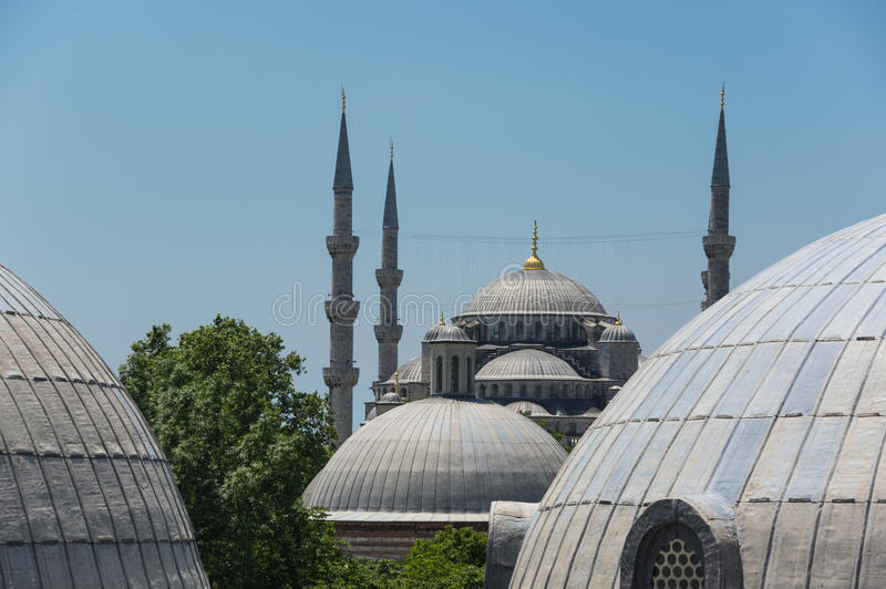 Hagia Sophia et Sultan Ahmet Mosque dans Instanbul photo stock