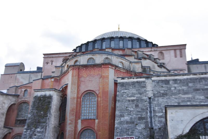 Hagia Sophia, the famous church, Istanbul in Turkey royalty free stock photos