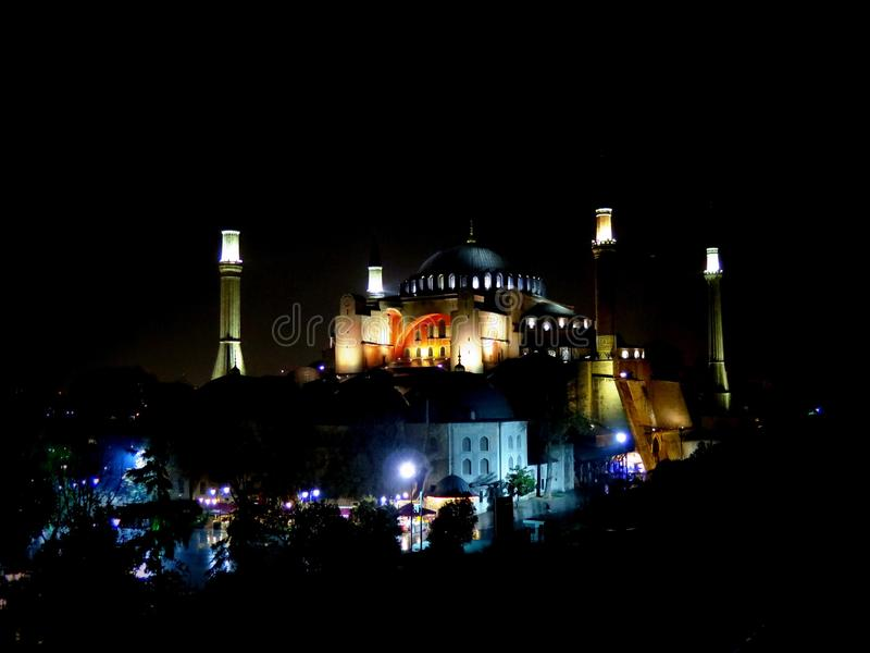 Hagia Sophia, het beroemdste monument in Istanboel stock afbeeldingen