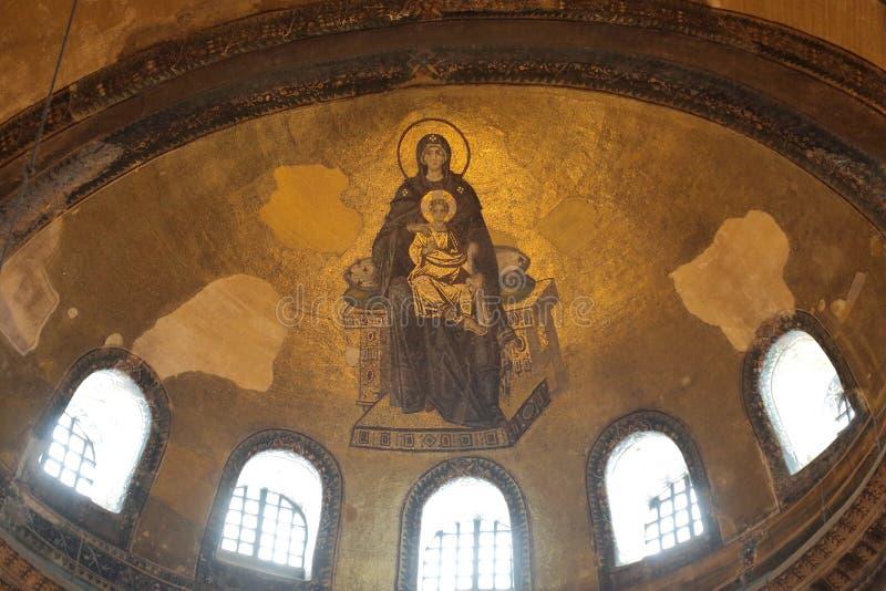 Hagia Sophia Interior arkivbilder