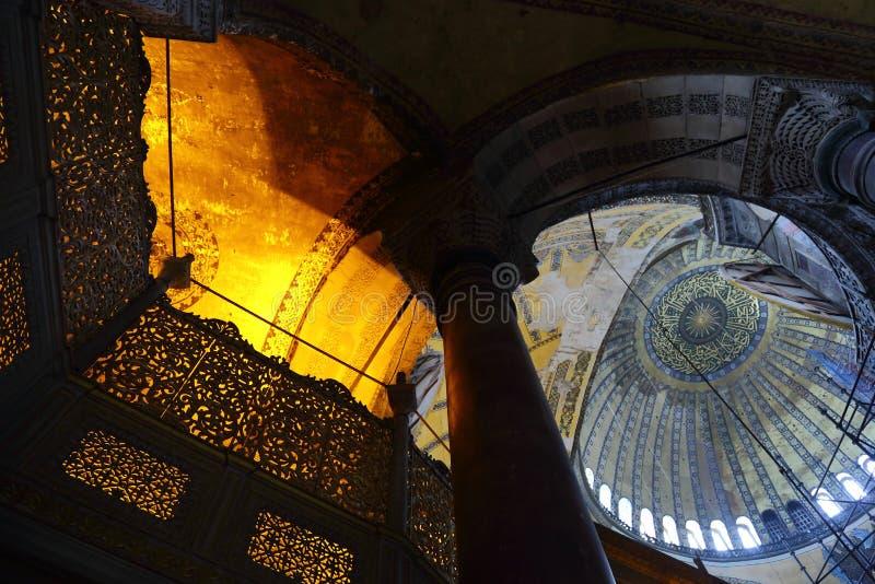 Hagia Sophia Interior arkivfoto