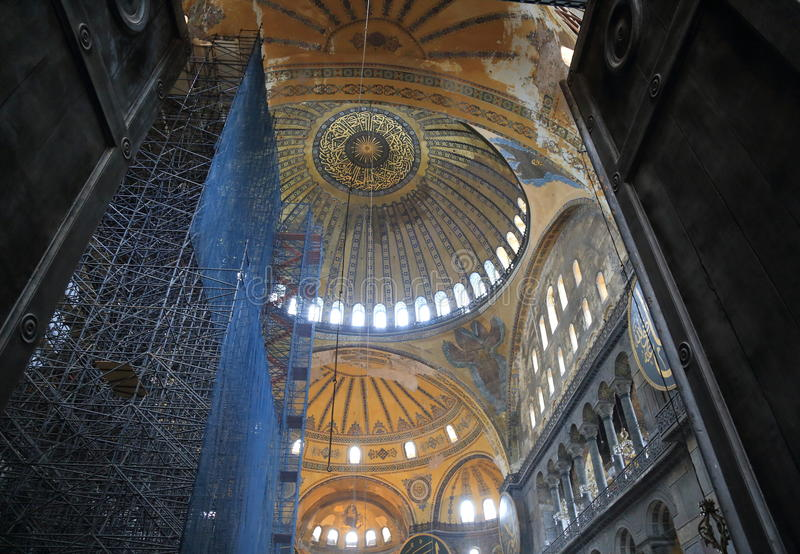Hagia Sophia Interior arkivfoton