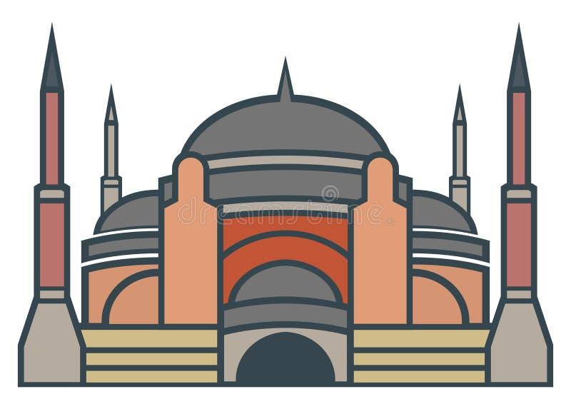 Hagia Sophia, Istanboel - eenvoudig pictogram vector illustratie