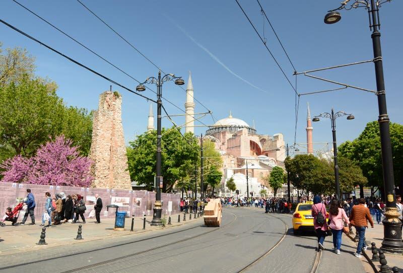 Hagia Sophia Istanboel Turkije royalty-vrije stock foto's