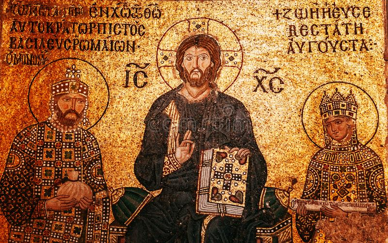Hagia Sophia Jesus Christ Pantocrator interior extraordinário, De imagens de stock royalty free