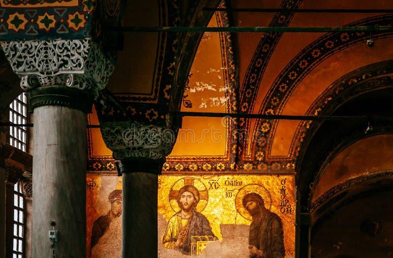 Hagia Sophia Jesus Christ Pantocrator interior extraordinário, De imagem de stock