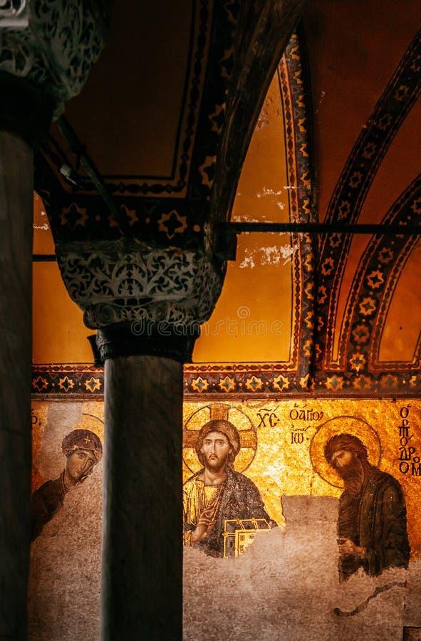 Hagia Sophia Jesus Christ Pantocrator interior extraordinário, De fotos de stock