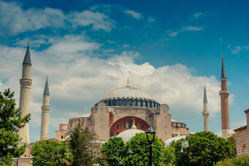 Hagia Sophia, le monument de renommée mondiale photographie stock libre de droits