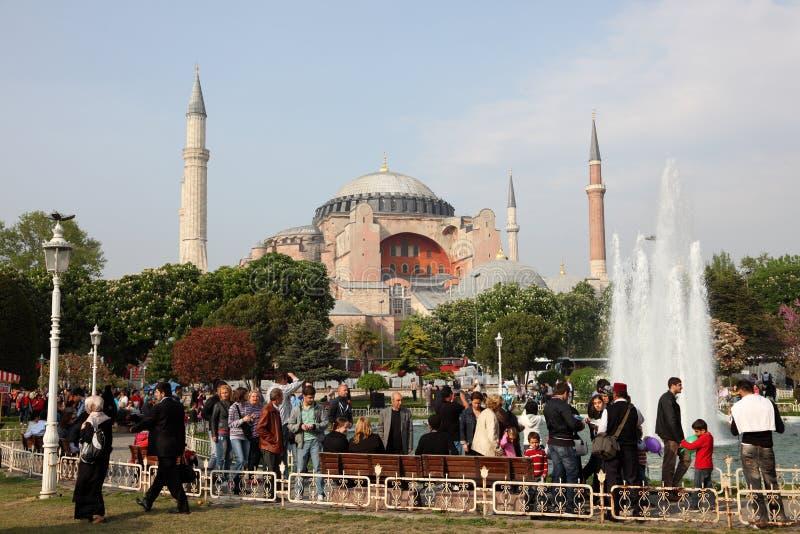 Hagia Sophia moské i Istanbul royaltyfri bild