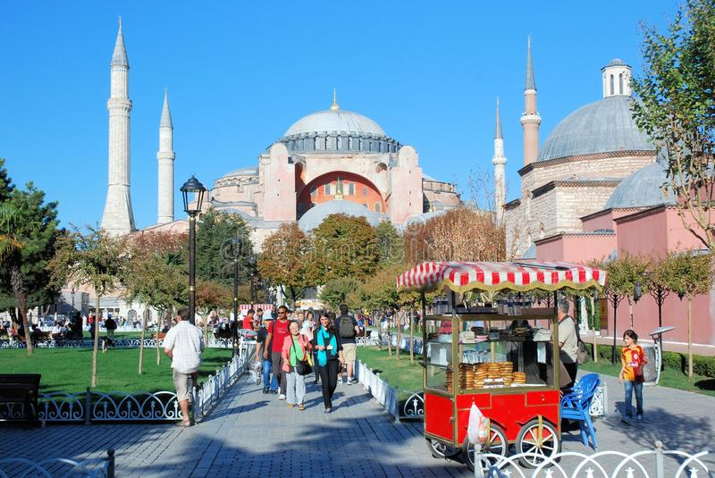 Hagia Sophia Mosque - Basilica - Istanbul - Turkey. Hagia Sophia a former Greek Orthodox patriarchal basilica (church) later an imperial mosque and now a museum royalty free stock photos