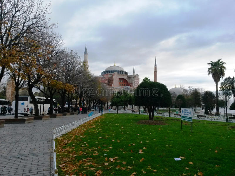 Hagia Sophia mosque or a church, mosque for Muslims, Greeks church. No matter how great royalty free stock image