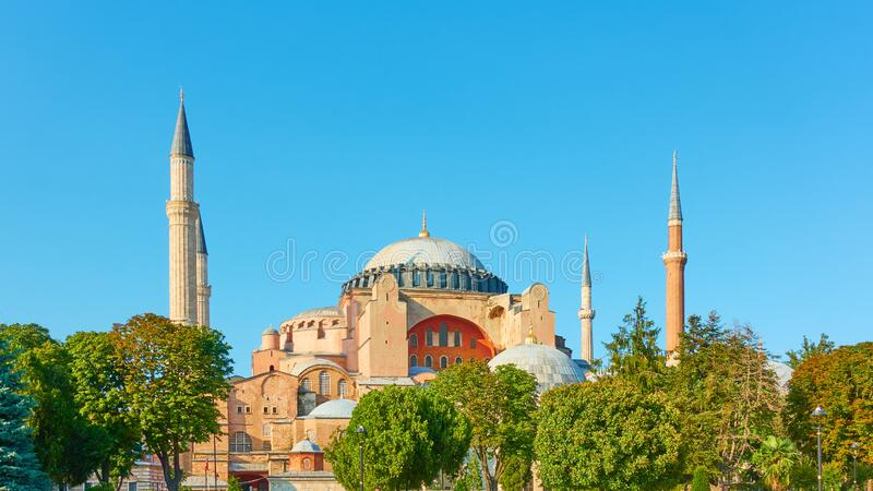 Hagia Sophia mosque in Istanbul stock photography