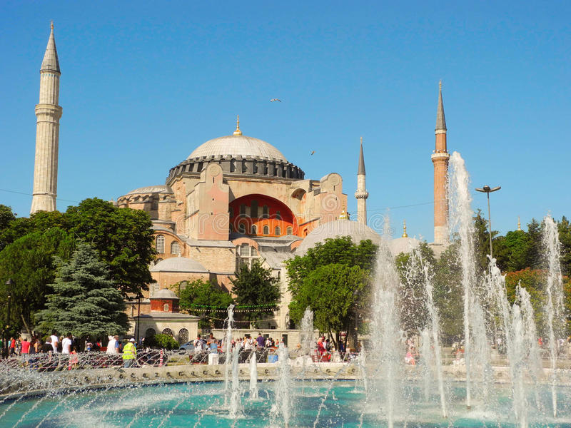 Hagia Sophia museum royaltyfria bilder